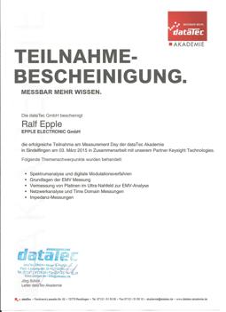 DataTec Bescheinigung 2015-03-03